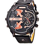 Watch Men Luxury Brand Leather Quartz Watch Men Clock Digital LED Army Military Sport Wristwatch relogio masculino