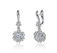 Lucky Doll Drop Earrings Unique Design Dangling Style Sterling Silver Zircon Platinum Plated Jewelry ForBirthday Business Gift Daily Casual Office &