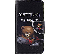 For Samsung Galaxy J3(2016) J5(2016) Case Cover Bear Pattern PU Material Painted Mobile Phone Case  J3 Prime