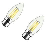 4W B22 E26/E27 Bombillas de Filamento LED CA35 4 COB 360 lm Blanco Cálido 2700-3500 K Regulable V