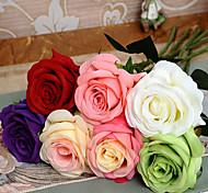 Недорогие -Искусственные Цветы 1 Простой стиль Розы Букеты на стол / Не включено