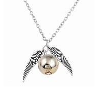 Men's Women's Pendant Necklaces Jewelry Bowknot Alloy Circular Unique Design Logo Style Dangling Style Jewelry For