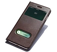 For iPhone 8 iPhone 8 Plus Case Cover with Stand with Windows Flip Full Body Case Solid Color Hard Genuine Leather for Apple iPhone 8