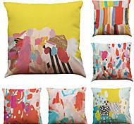 """набор из 6 красочных граффити узор белье домашний офис диван квадратные декоративные наволочки (18 """"* 18"""")"""