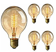 cheap -5pcs 40W E26/E27 G95 K Incandescent Vintage Edison Light Bulb AC 220-240V V