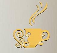Недорогие -Зеркала Мода Геометрия Наклейки 3D наклейки Зеркальные стикеры Декоративные наклейки на стены, Винил Украшение дома Наклейка на стену