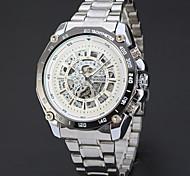 Men's Sport Watch Dress Watch Skeleton Watch Fashion Watch Wrist watch Mechanical Watch Automatic self-winding Alloy Band Charm Casual