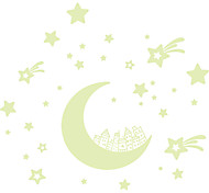 Stars Moon Luminous Wall Stickers Glowing in the Dark Building House Wall Decals Home Decor For Kids Room