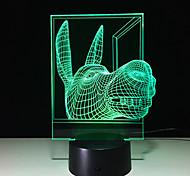 Мультиколор-Ночные светильники LED Night Light USB огни-3W Компактный размер Ночное видение Масштабируемые Меняет цвета - Компактный