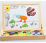 Недорогие -Пазлы Обучающая игрушка Строительные блоки Игрушки своими руками 1 Дерево Радужный Хобби и досуг