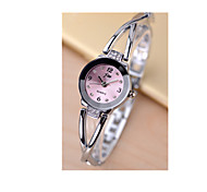 Women's Bracelet Watch Simulated Diamond Watch Quartz / Rose Gold Plated Stainless Steel Band Silver