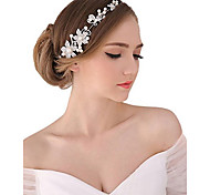 cheap -Pearl Crystal Fabric Alloy Tiaras Headbands Flowers Head Chain 1 Wedding Special Occasion Party / Evening Outdoor Headpiece