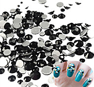 400-500pcs/bag New SS3-SS16 Mixed Size Nail Black Rhinestone Lovely Nail Art Shiny Mystic Black Rhinestone Nail Art Decoration For Manicure Beauty
