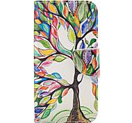 Недорогие -Кейс для Назначение SSamsung Galaxy A5(2017) A3(2017) Кошелек Бумажник для карт со стендом Флип Чехол дерево Твердый Искусственная кожа