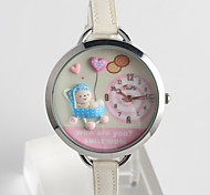 cheap -Fashion Watch Quartz / PU Band Cartoon Casual Black White Pink Brand
