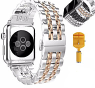 cheap -Watch Band For Apple Watch 3 Series 1 2 Stainless Steel Bracelet Butterfly Buckle