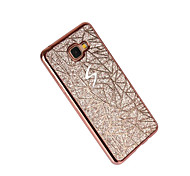 cheap -For Samsung Galaxy A3(2017) A5(2017) Case Cover Plating Back Cover Glitter Shine Soft TPU A7(2017) A7(2016) A5(2016) A3(2016) A5