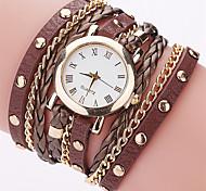 Women's Fashion Bracelet Watch Wristwatch Quartz Creative Business Dial Top Brand PU Band Cool Casual Unqiue Watches Relogio Feminino
