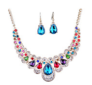 cheap -The New Fashion Diamond Necklace Earrings Set Bride Exaggerated