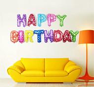 Недорогие -13pcs / набор 16inch с днем рождения буквы алфавита воздушные шары воздушные шары мульти цвет фольги партии