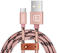 USB 3.0 Тип C Плетение Кабели Назначение Samsung Huawei Sony Nokia HTC Motorola LG Lenovo Xiaomi 150 cm Нейлон Алюминий TPE