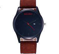 Недорогие -Для мужчин Модные часы Китайский Кварцевый PU Группа На каждый день Черный Коричневый Серый Хаки Темно-синий