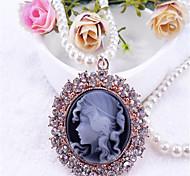 Недорогие -Сладкое детство Цепочка Винтажная коллекция Черный Лолита Аксессуары Однотонный Ожерелья Металл