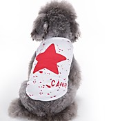 cheap -Cat Dog Vest Dog Clothes Cute Casual/Daily Fashion Stars Red Blue Black Costume For Pets