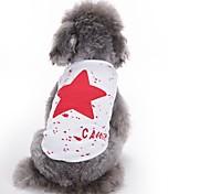 Недорогие -Кошка Собака Жилет Одежда для собак Очаровательный На каждый день Мода Звезды Красный Синий Черный Костюм Для домашних животных