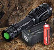 Linternas LED Linternas de Mano LED 2200 lm 5 Modo Cree XM-L T6 Enfoque Ajustable para Camping/Senderismo/Cuevas De Uso Diario Ciclismo