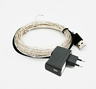 ZDM 10m 5W 100Pcs Lamp USB 5V Waterproof Copper String With EU/US Input 5V/1A Power Supply