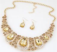 Women's Necklace/Earrings Crystal Rhinestone Costume Jewelry Fashion Euramerican Crystal Rhinestone Alloy Jewelry 1 Pair of Earrings