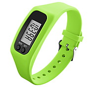 Men's Sport Watch Wrist watch Digital LCD Pedometer Colorful Silicone Band Candy color Black White Blue Green Yellow Rose