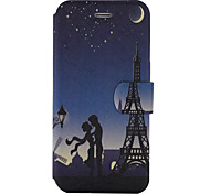 For Samsung Galaxy S8 S8Plus Case Cover Tower Pattern Painted PU Material Card Holder Mobile Phone Holster Phone Case S7 S7Edge