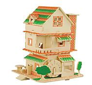 Kit Faça Você Mesmo Quebra-Cabeças 3D Quebra-Cabeça Brinquedos Quadrada Construções Famosas Arquitetura Chinesa Casa Homens Mulheres