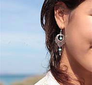 cheap -Women's Pendant / Dangle Earrings - Teardrop Dangling Style, Vintage, Bohemian Silvery For Daily / Casual