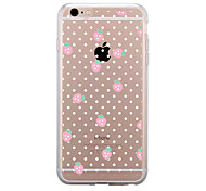 For IPhone 7 Case Back Cover Case TPU Pink Strawberries Pattern for iPhone 7/ 7 Plus 6s/ 6 /6s Plus / 6 Plus/ SE / 5s / 5 /5C/ 4/4s