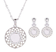 Women's Bridal Jewelry Sets Rhinestone Dangling Style Daily Alloy Round 1 Pair of Earrings Necklaces