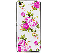 Case For Sony Glow in the Dark IMD Pattern Back Cover Flower Soft TPU for Sony Xperia XA