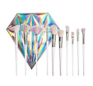 The New 10 Spiral Pearl White Makeup Brush Set With Laser Diamond Bag Professional Unicorn With The Same Color Brush Hair Brush Brush