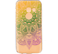 for Samsung Galaxy A3(2017) A5(2017) A7(2017) Mandala Flower Gradient color Pattern TPU Soft Phone Back Cover Case