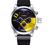 SINOBI Мужской Спортивные часы Уникальный творческий часы Китайский КварцевыйКалендарь Защита от влаги Панк Крупный циферблат Светящийся