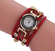 cheap -Women's Bracelet Watch Quartz Alloy Band Casual Black White Blue Red Orange Brown Pink Yellow Navy