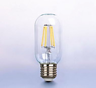 1PCS 6W E26/E27 LED Filament Bulbs T45 6 leds COB Dimmable Decorative Warm White 450-550lm 2300-2700K AC 220-240V