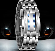 cheap -Men's Digital Digital Watch Wrist Watch Water Resistant / Water Proof LED Stainless Steel Band Luxury Black Silver
