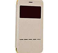 Недорогие -Назначение iPhone 8 iPhone 8 Plus Чехлы панели с окошком С функцией автовывода из режима сна Покрытие Флип Чехол Кейс для Сияние и блеск