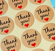 cheap -10Sheet/120Pcs Kraft Paper Thank You Gift Tags Wedding Favors Party Accessories Christmas DIY Burlap Wedding Vintage Wedding Decoration