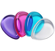 1PC Transparent The Silicone Puff makeup Don't Eat Meal Wash A Face Robot 4 Color Random