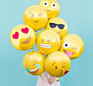 cheap -8 Pcs /Set Emoji Balloon 18 Inch Foil Balloon Hot Bubble Balloons Party Decoration Home