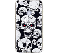 cheap -Case For Huawei P9 Lite Huawei Huawei P8 Lite Glow in the Dark IMD Pattern Back Cover Skull Soft TPU for P10 Lite P10 Huawei P9 Lite P8